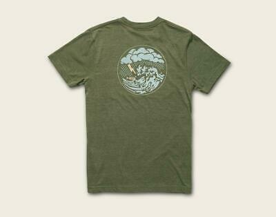Howler Bros Men's Short Sleeve Dark & Stormy T-Shirt Fatigue New