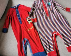 2 x Next Footless pyjamas rompers age 18-24 Months £2