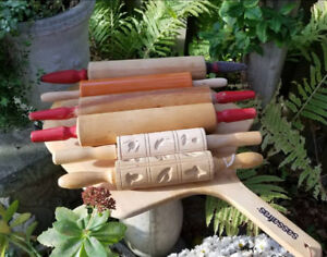 Vintage Solid Wood Bakers Rolling Pins, Pizza, Cakes, Fondant