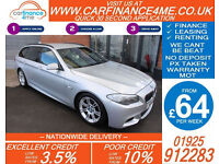 2011 BMW 520D 2.0 TD M-SPORT TOURING GOOD / BAD CREDIT CAR FINANCE FROM 64 P/WK