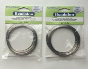 Beadalon Remembrance Memory Wire. Stainless Steel. 1oz.