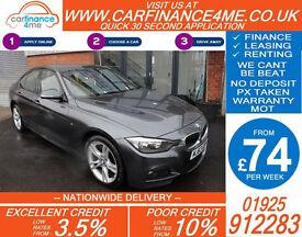 2013 BMW 320D 2.0 TD XDRIVE M-SPORT GOOD / BAD CREDIT CAR FINANCE FROM 74 P/WK