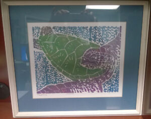 "Avi Kiriaty Limited Edition Linoleum Print ""Turtle"" #10/500 COA"