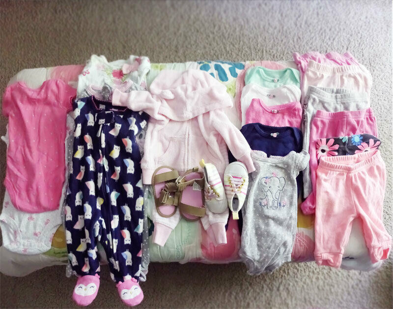 20 Pcs Lot Baby Girl Clothes Size Nb