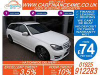 2012 MERCEDES C220 CDI AMG SPORT GOOD / BAD CREDIT CAR FINANCE FROM 74 P/WK