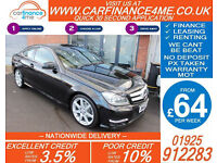 2012 MERCEDES C250 CDI AMG SPORT GOOD / BAD CREDIT CAR FINANCE FROM 64 P/WK
