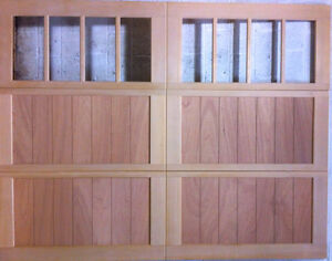 Wood Garage Door Carriage 9'x7' AmanaDoors Model 103W8