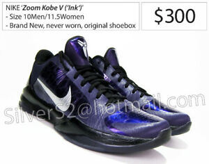 new style 2bf86 5d797 Zoom Kobe V (5) (INK PurpleBlack, Metallic Silver)