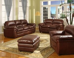 brand new 3 peice leather couch set
