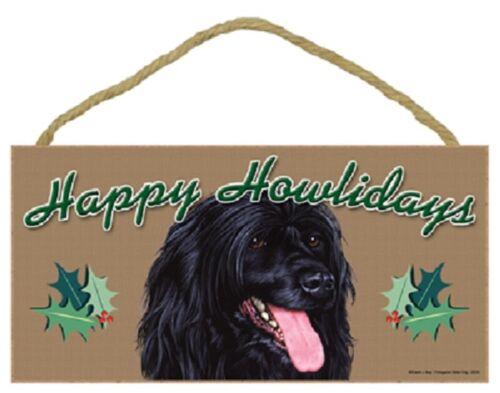 Portuguese Water Happy Howlidays Santa Wood Funny Christmas Dog Sign Plaque USA