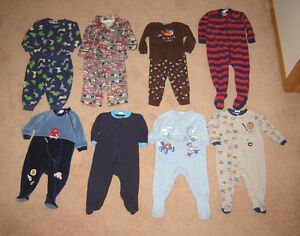 Boys Sleepers, Pj's, Clothes, Winter Sets - 12, 12-18, 18, 18-24 Strathcona County Edmonton Area image 1