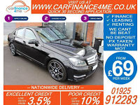 2013 MERCEDES C220 CDI AMG SPORT GOOD / BAD CREDIT CAR FINANCE FROM 69 P/WK