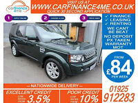 2010 LAND ROVER DISCOVERY 3.0 TDV6 XS GOOD / BAD CREDIT CAR FINANCE FROM 84 P/WK