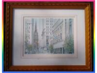 Philip Martin New York Wall Street Framed, Limited edition, Original