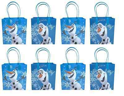 12PCS Disney Frozen Olaf Authentic Goodie Party Favor Gift Birthday Loot Bags - Olaf Birthday