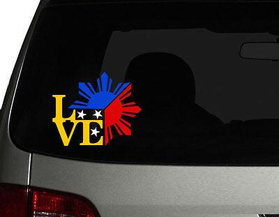 Filipino Vinyl Car Decal Sticker  Unique I Love Philippine - Car sticker decals philippines