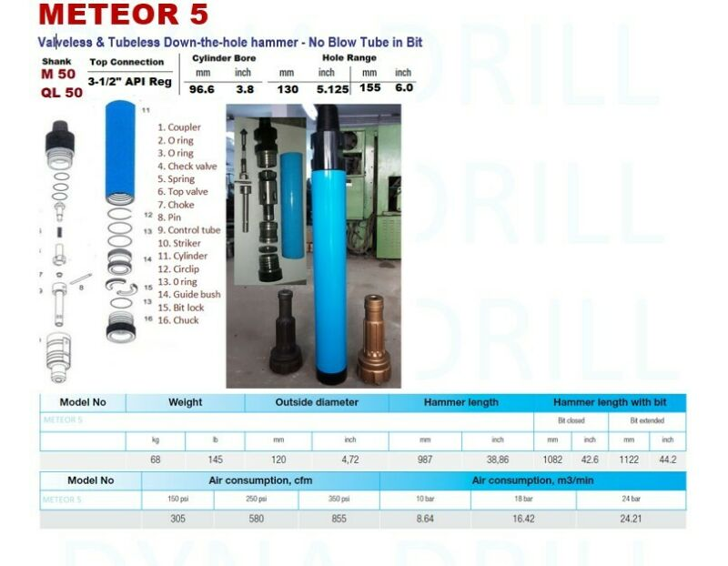 "Down the hole( DTH ) Hammer 5"" QL 50 and QL 50 6"" bit - HammerBit LLC USA"