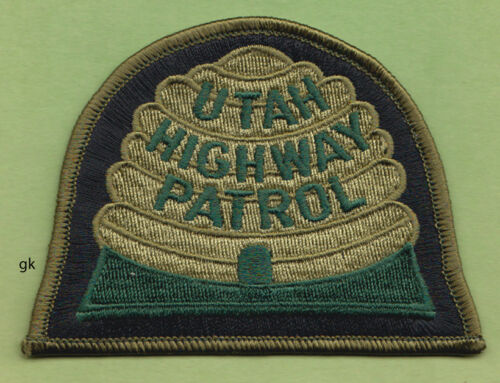 UTAH HIGHWAY PATROL   POLICE SHOULDER  PATCH  (Green)