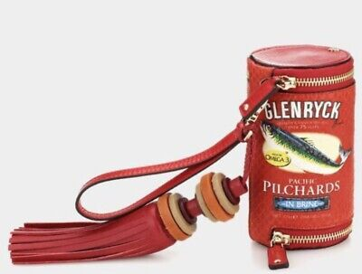 anya hindmarch red leather clutch