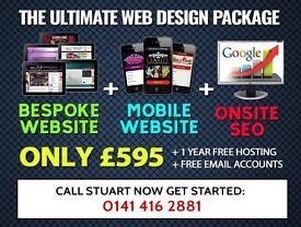 Glasgow / UK Web Designer - The ULTIMATE Website Package - FREE Hosting!