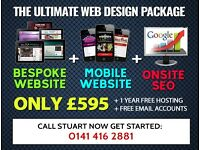 Glasgow / UK Web Designer - The ULTIMATE Website Package - FREE Hosting!