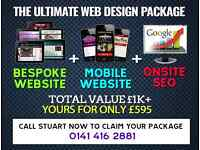 The ULTIMATE Web Design Package! Call Us Today For A Quote