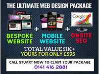 The ULTIMATE Web Design Package! 1st Class Websites + Support