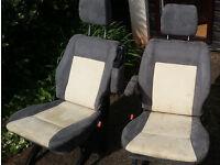 VW T4 CARAVELLE REAR PASSENGER SEATS (PAIR)