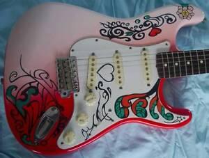 Hendrix Monterey Pop Guitar Custom Fender Stratocaster. WILL POST Redlynch Cairns City Preview
