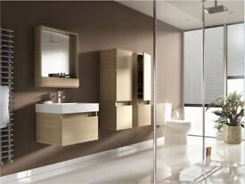 Mondavio Oak Wall Hung Mirror Storage Unit - 900 mm