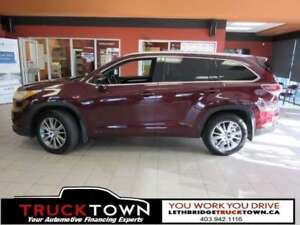 2015 Toyota Highlander XLE-NAV-HEATED LEATHER-B/U CAM-SUNROOF