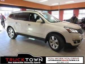 2014 Chevrolet Traverse LTZ-LOADED-LEATHER-HEATED & A/C SEATS