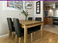 Remarkable Solid Oak Dining Table - Bought from Habitat