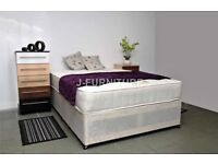 @@@ DOUBLE DIVAN BED BASE AND MATTRESS £109 only @@@ free delivery