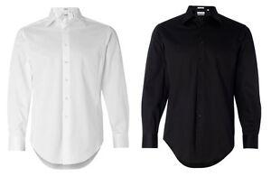 Calvin klein slim fit cotton stretch dress shirt mens for Calvin klein slim fit stretch shirt