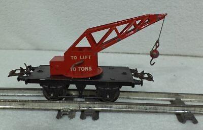 URALT ZEER OUD SPOOR O HORNBY Kraanwagen 10 tons realistisch zeer mooi 14.70 cm