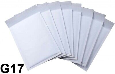 20 Pack Padded Envelopes Size G17 245x350mm Bubble Wrap Envelopes White Mailers