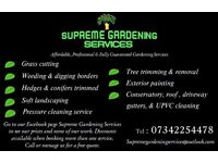 Supreme Gardening Exterior Services Grass cutting Gardening tree removal power washing painting ect