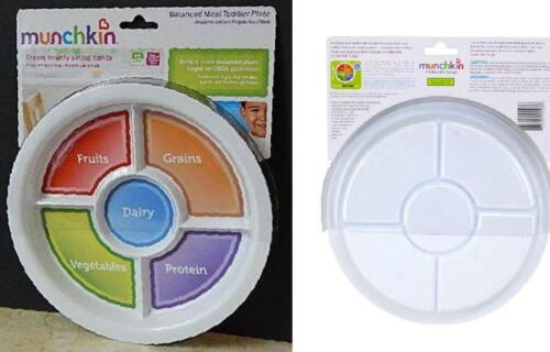Munchkin Balanced Meal Toddler Divided Plate Fruits Grains Proteins Veggies