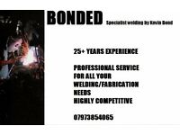 Coded Welder for all your welding/fabrication needs 25+ years experience professional service
