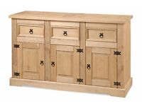 New Solid Corona Mexican Pine Sideboards from £99 ALL IN STOCK