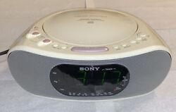 Sony ICF-CD837 AM/FM CD Dream Machine Alarm Clock Radio CD-R RW Playback