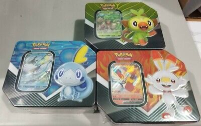 2020 Pokemon GALAR PARTNER Tins-Set of ALL 3-Rillaboom,Cinderace,Inteleon