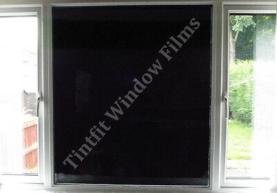glass window film block out 100 light black tint tinting ebay. Black Bedroom Furniture Sets. Home Design Ideas