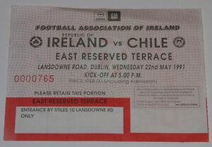Ticket for collectors * Republic of Ireland - Chile 1991 Dublin - Internet, Polska - Ticket for collectors * Republic of Ireland - Chile 1991 Dublin - Internet, Polska