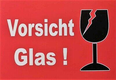 """10x Versandaufkleber Warnediketten in orange  /""""FRAGILE Attention Vorsicht Glas/"""""""
