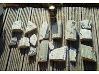 AQUARIUM WOOD STONE PIECES