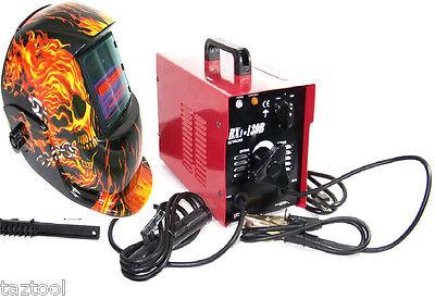 Arc Welder 130 A Machine Rod 110v Flame Auto Darkening Helmet Welder Mask Stick
