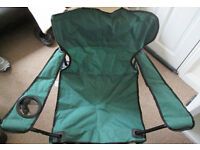 2 x Camping chairs, fishing chairs, garden chairs, patio furniture, foldable chairs, collapsible
