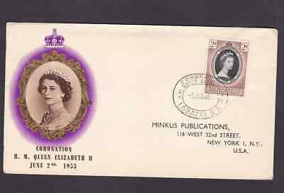 Bechuanaland Protectorate 1953 FDC 1st day cover to the USA QE II Coronation BPA